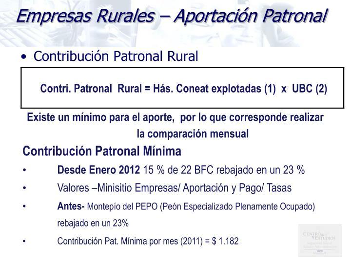 Contribución Patronal Rural