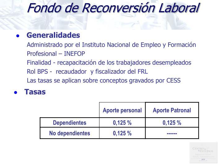 Fondo de Reconversión Laboral