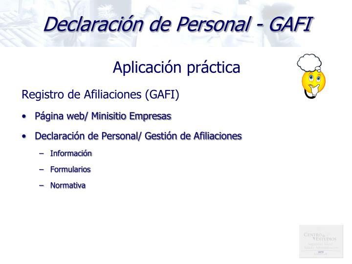 Declaración de Personal - GAFI