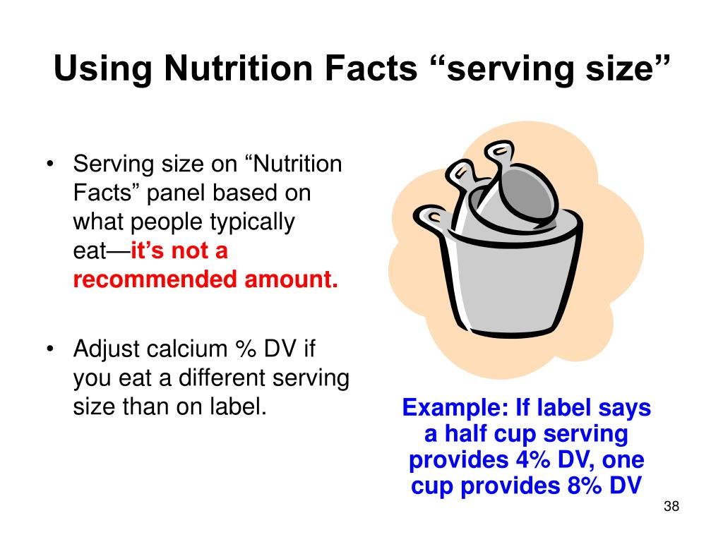 "Using Nutrition Facts ""serving size"""