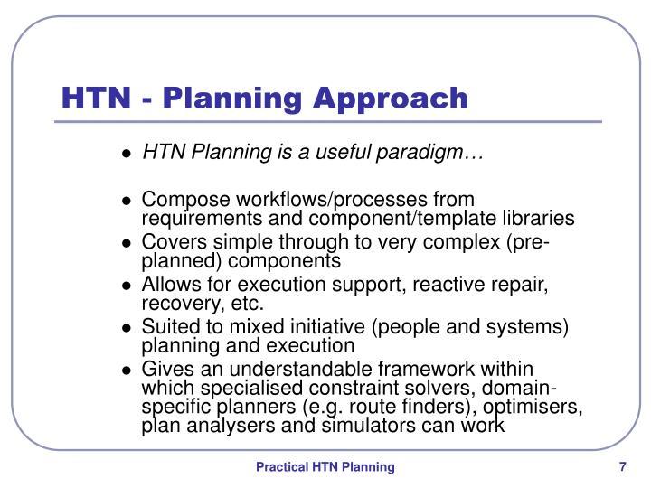 HTN - Planning Approach