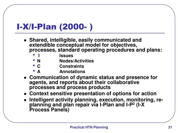 I-X/I-Plan (2000- )