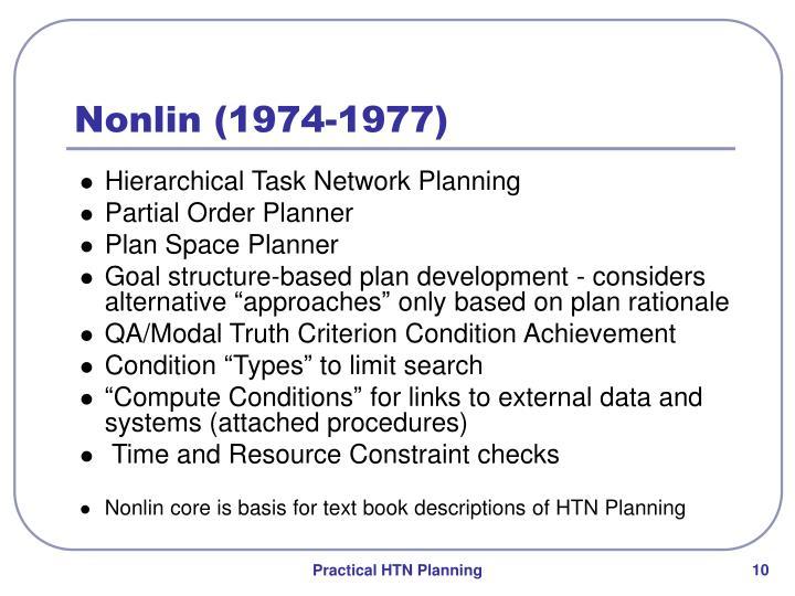 Nonlin (1974-1977)