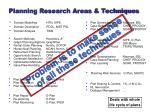 planning research areas techniques