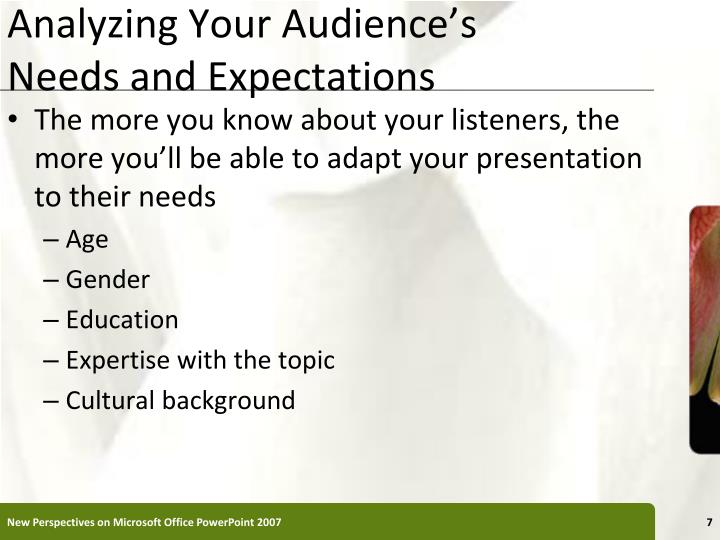 Analyzing Your Audience's