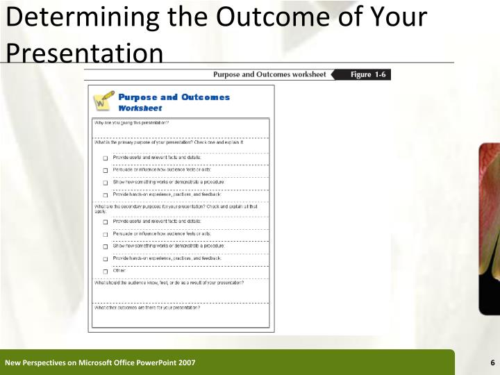 Determining the Outcome of Your Presentation