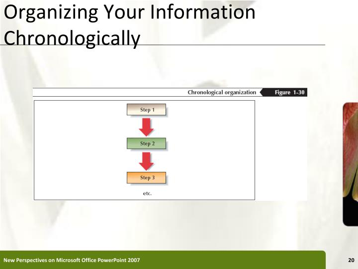 Organizing Your Information Chronologically
