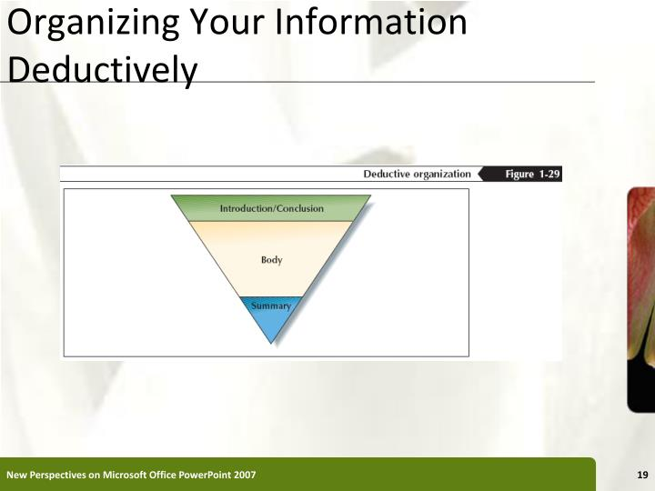 Organizing Your Information Deductively