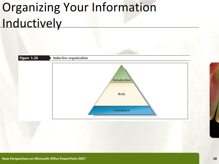 Organizing Your Information Inductively
