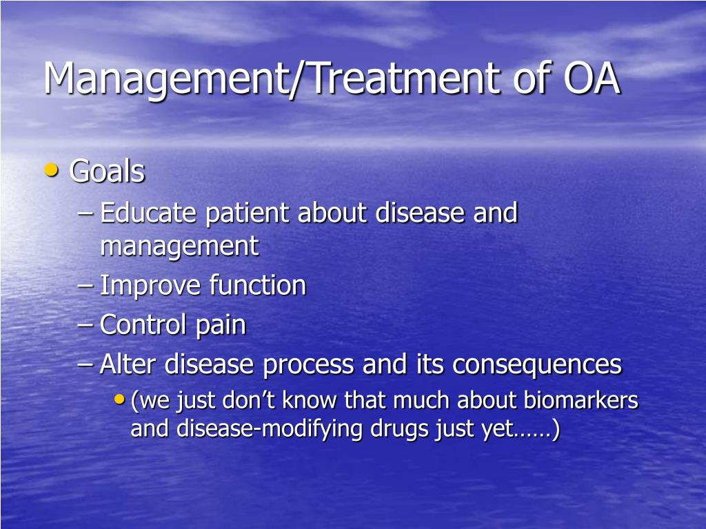 Management/Treatment of OA