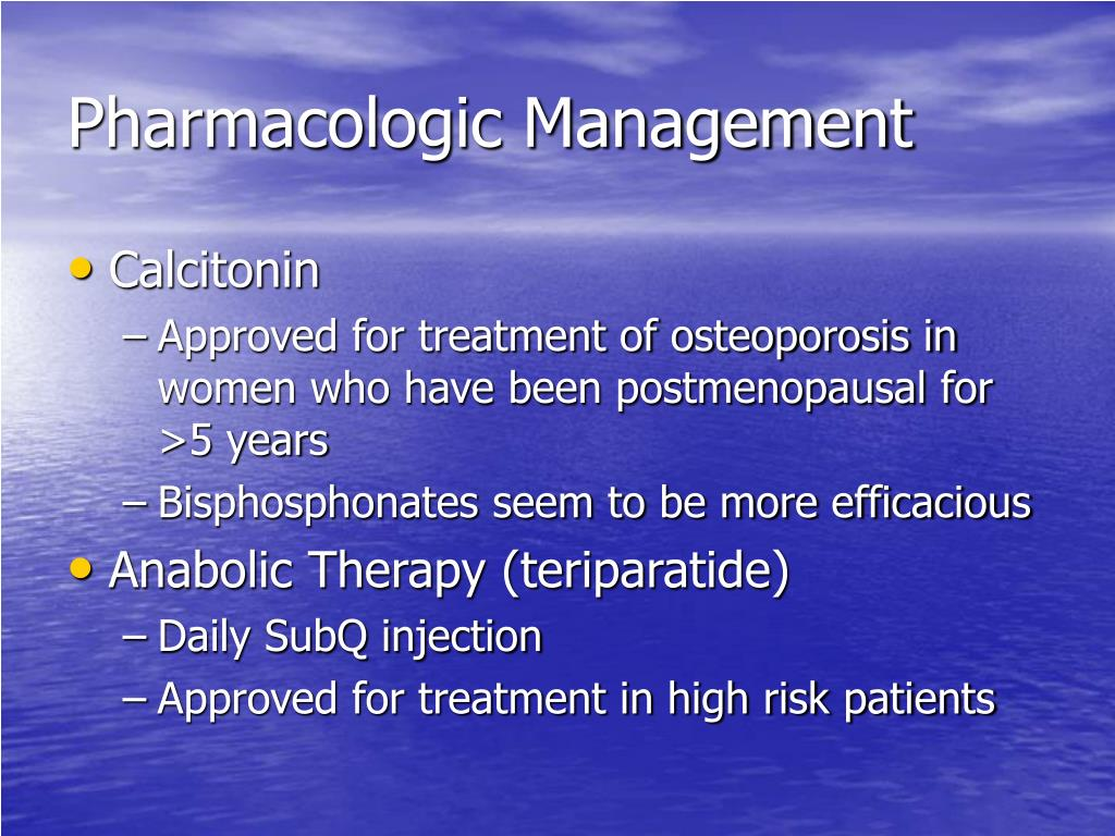 Pharmacologic Management