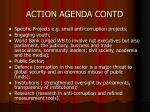 action agenda contd