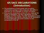 gf iacc declarations introduction
