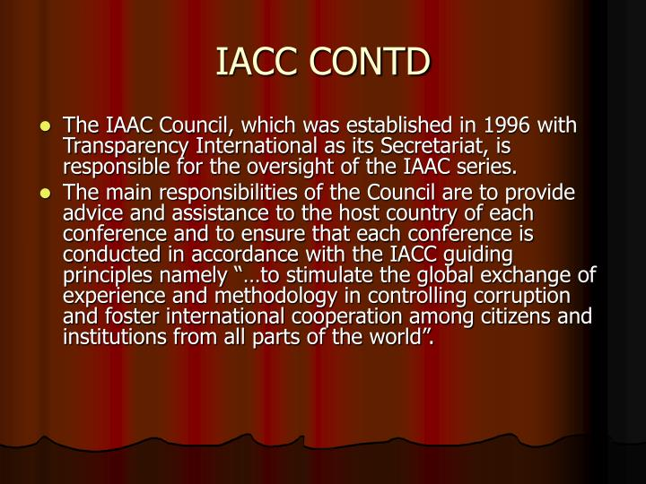 IACC CONTD