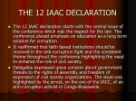 the 12 iaac declaration