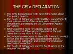 the gfiv declaration