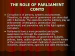 the role of parliament contd1