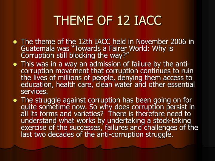 THEME OF 12 IACC