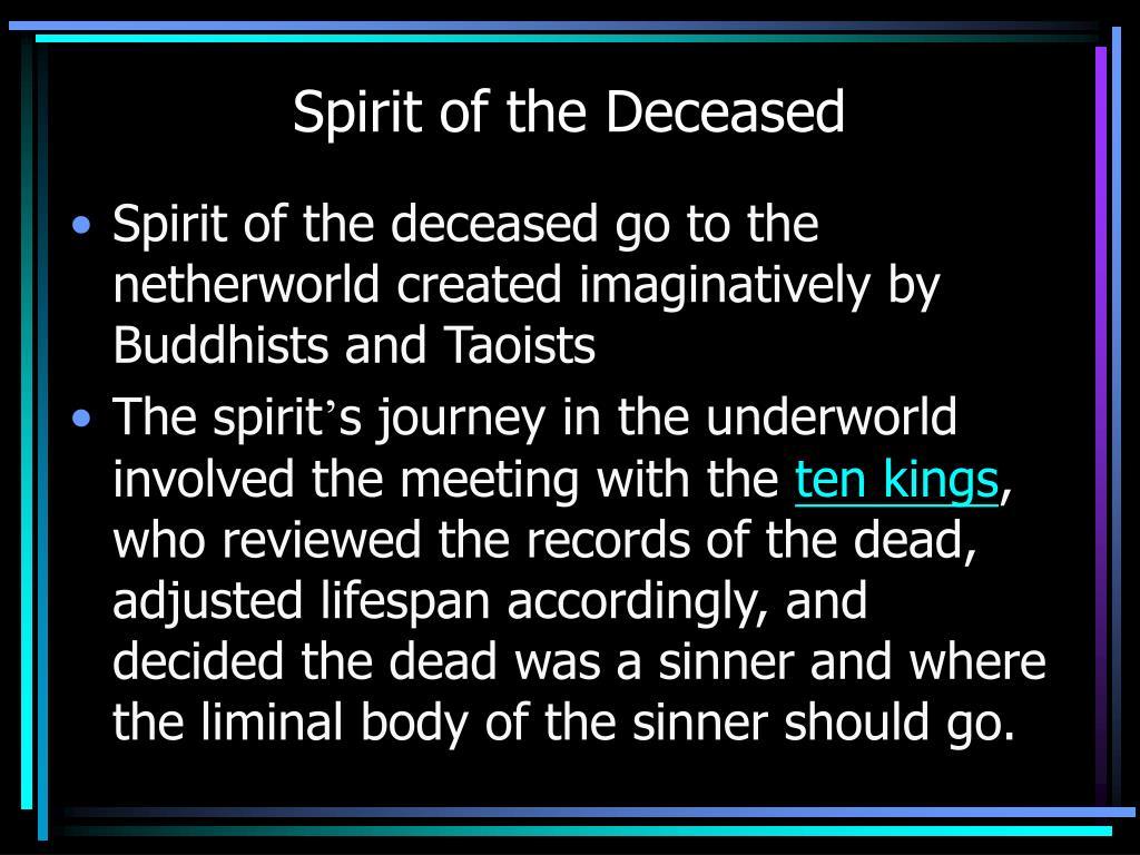 Spirit of the Deceased