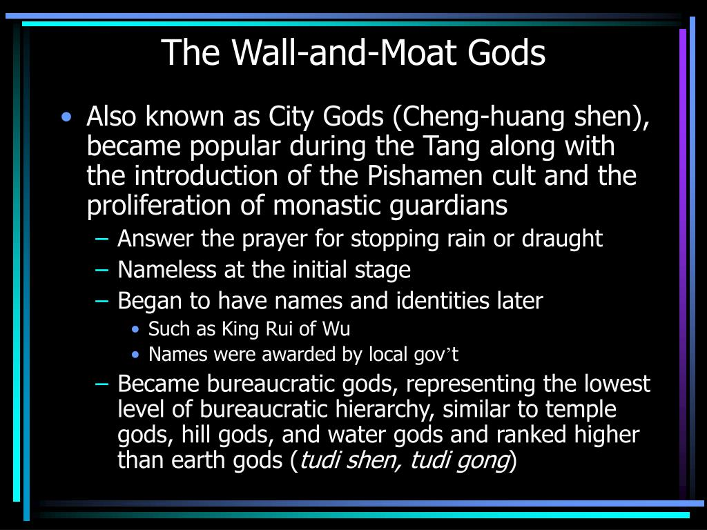 The Wall-and-Moat Gods