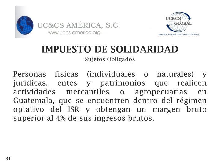 IMPUESTO DE SOLIDARIDAD