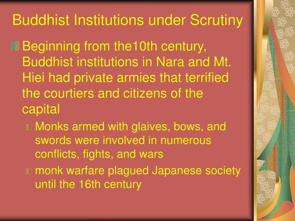 Buddhist Institutions under Scrutiny