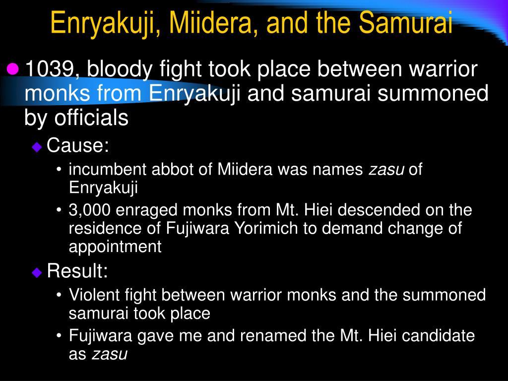 Enryakuji, Miidera, and the Samurai