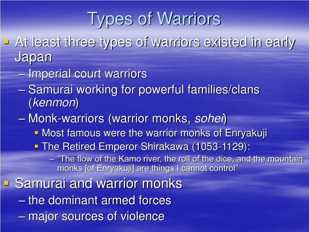 Types of Warriors