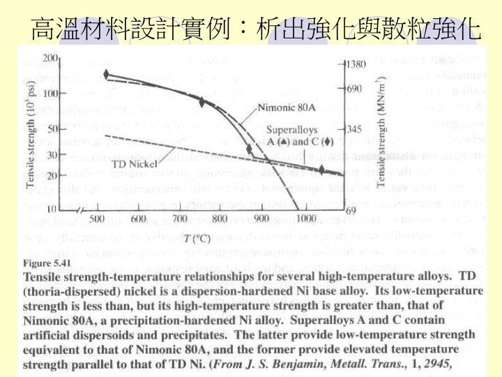 高溫材料設計實例: