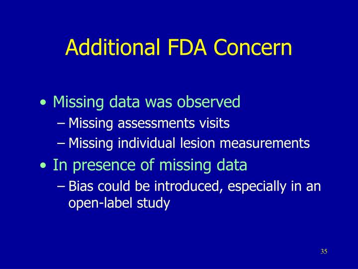 Additional FDA Concern