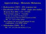 approved drugs metastatic melanoma