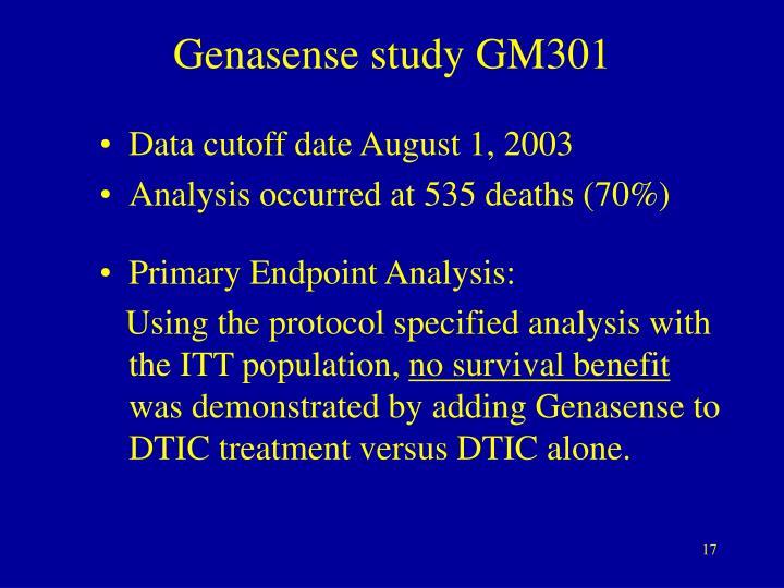 Genasense study GM301