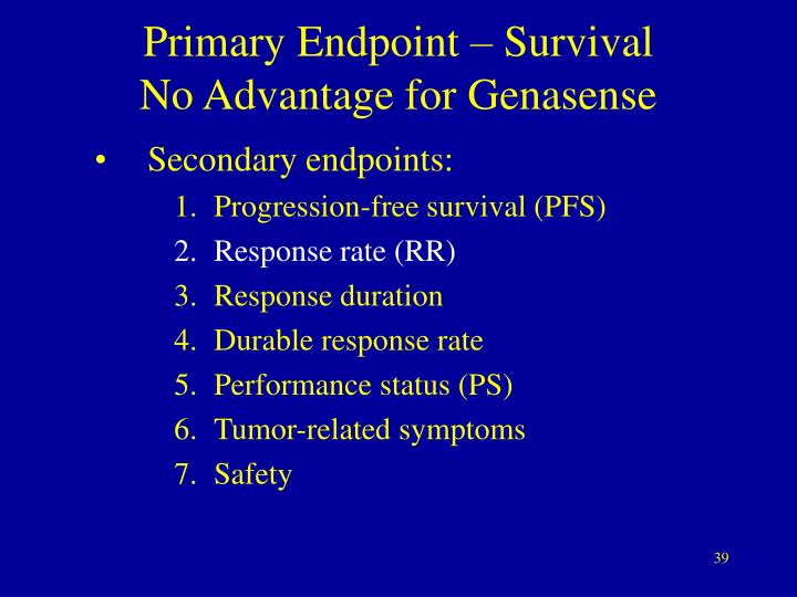 Primary Endpoint – Survival