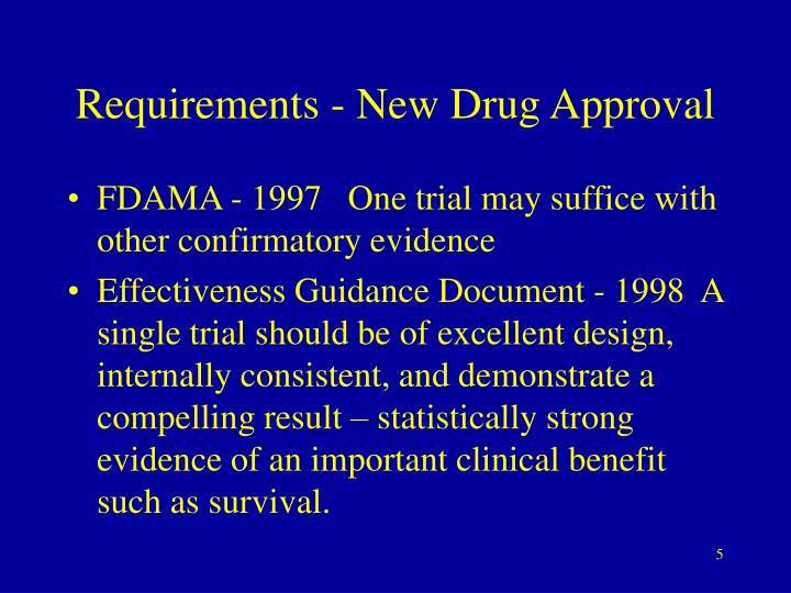 Requirements - New Drug Approval