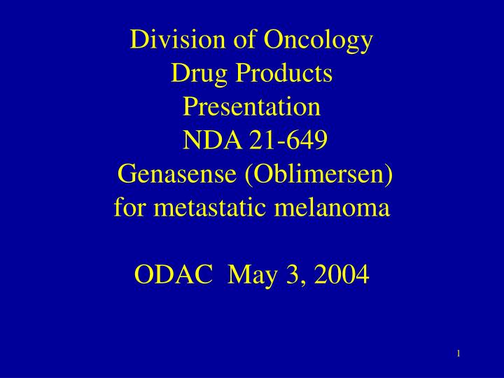 Division of Oncology