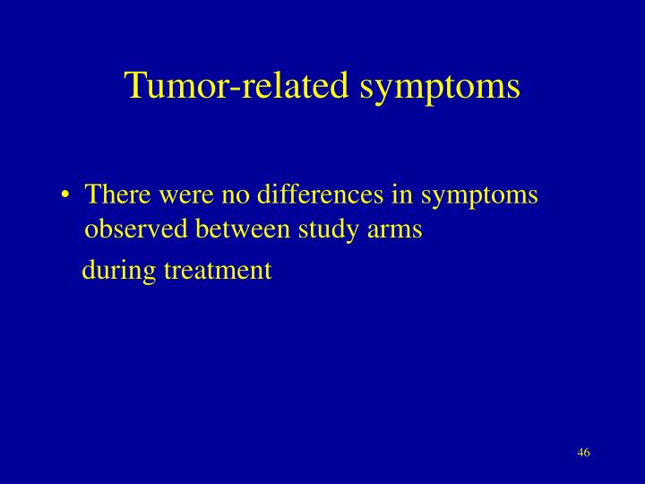 Tumor-related symptoms