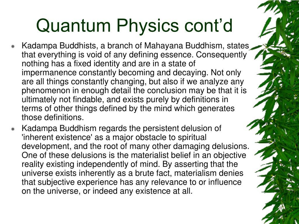Quantum Physics cont'd