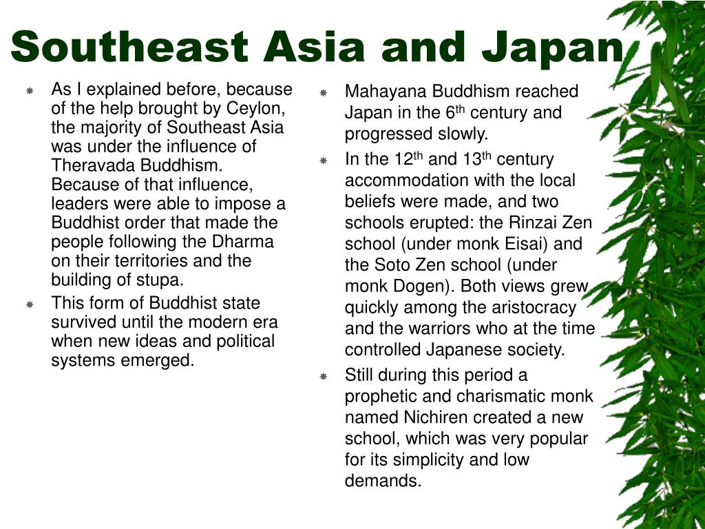 As I explained before, because of the help brought by Ceylon, the majority of Southeast Asia was under the influence of Theravada Buddhism. Because of that influence, leaders were able to impose a Buddhist order that made the people following the Dharma on their territories and the building of stupa.