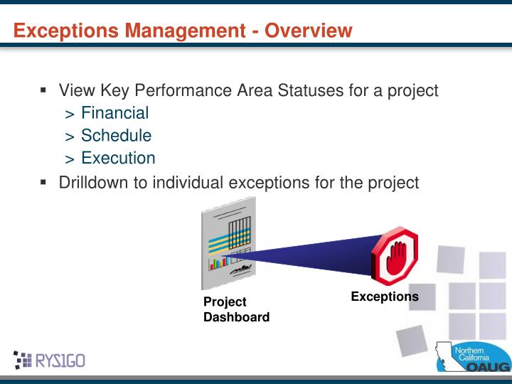 Exceptions Management - Overview