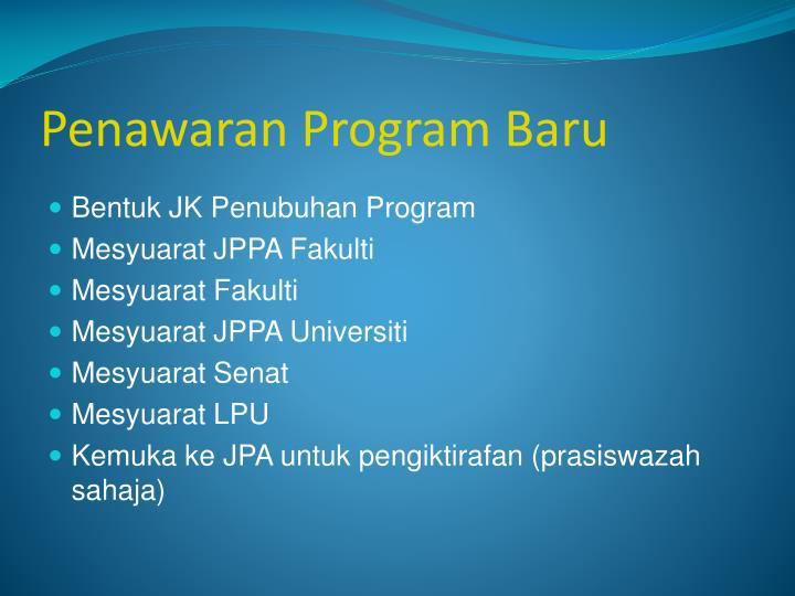 Penawaran Program Baru