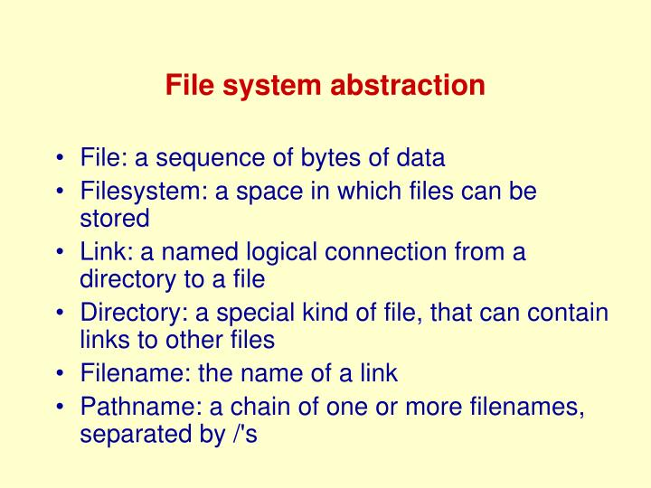File system abstraction