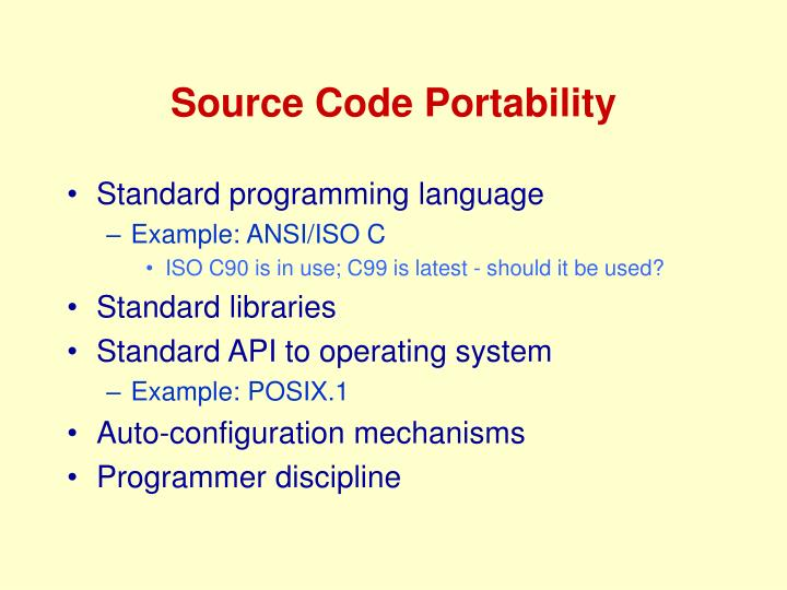 Source Code Portability