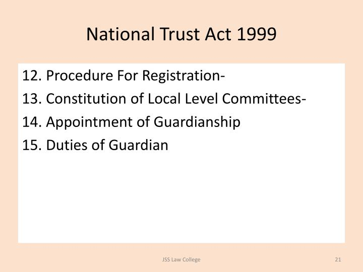 National Trust Act 1999
