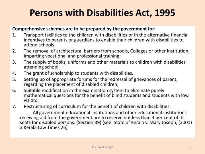 Persons with Disabilities Act, 1995