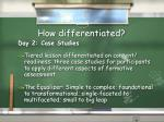 how differentiated7