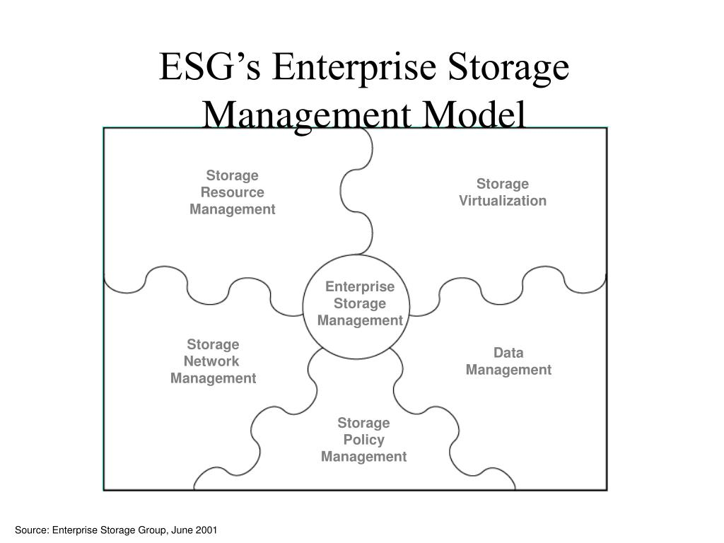 ESG's Enterprise Storage Management Model