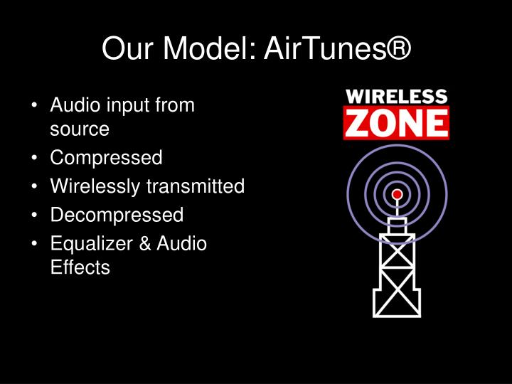 Our model airtunes