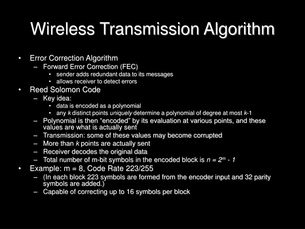 Wireless Transmission Algorithm