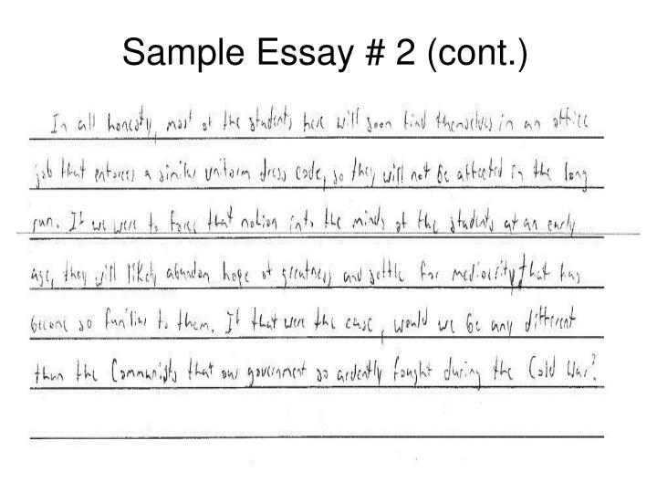 Sample Essay # 2 (cont.)