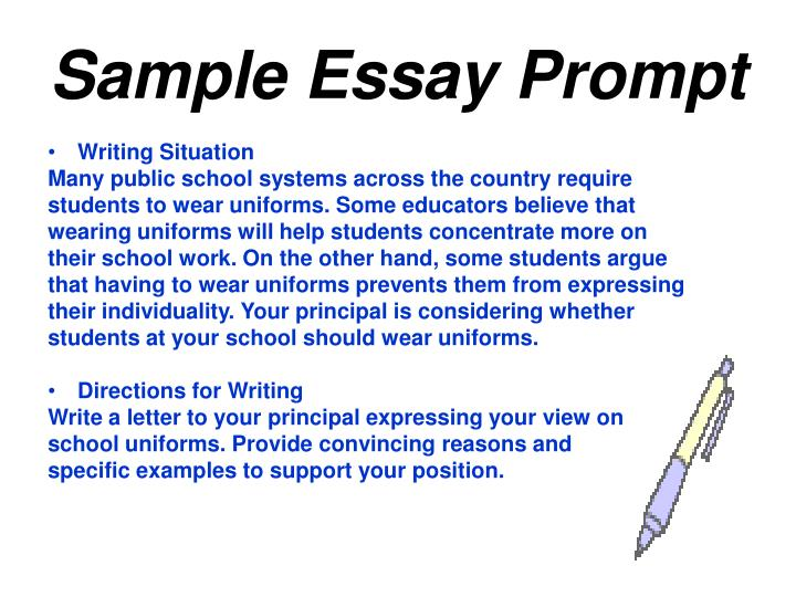Sample Essay Prompt